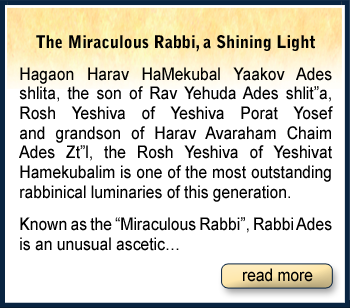 The Miraculous Rabbi, a Shining Light